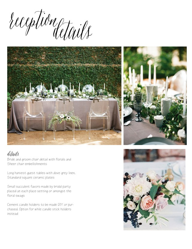 Toast Events Wedding Mood Board
