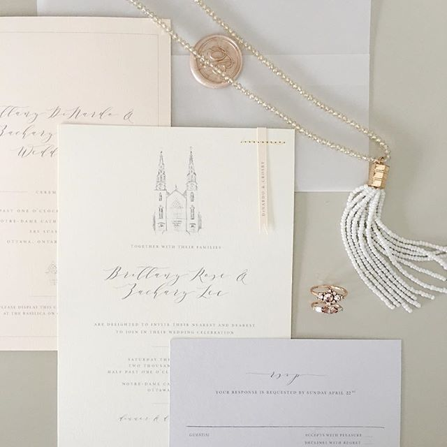 Toast Events Real Wedding Invite by Lafabere