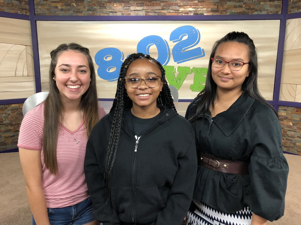 8.1.18 - The hosts of this year's 8:02 LIVE show (l-r) Martha Cress, Amaka Newman, and Melanie Llagas.