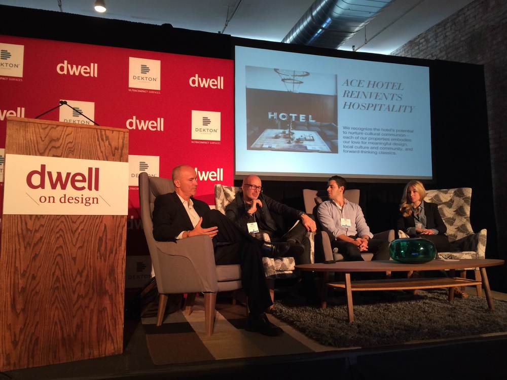 Airbnb  Head of Strategy Chip Conley and  Ace Hotel  President and CEO Brad Wilson discuss the boutique hotel movement along with others at  Dwell On Design  2014 in New York City.