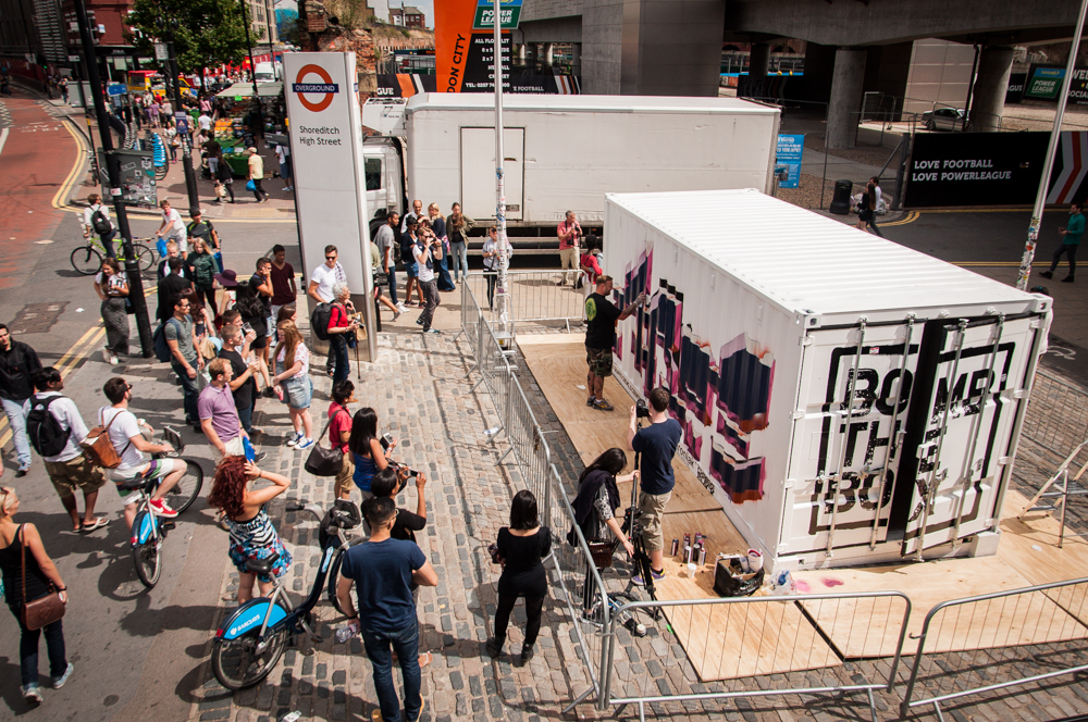 Bomb the Box at  Boxpark Shoreditch  in London