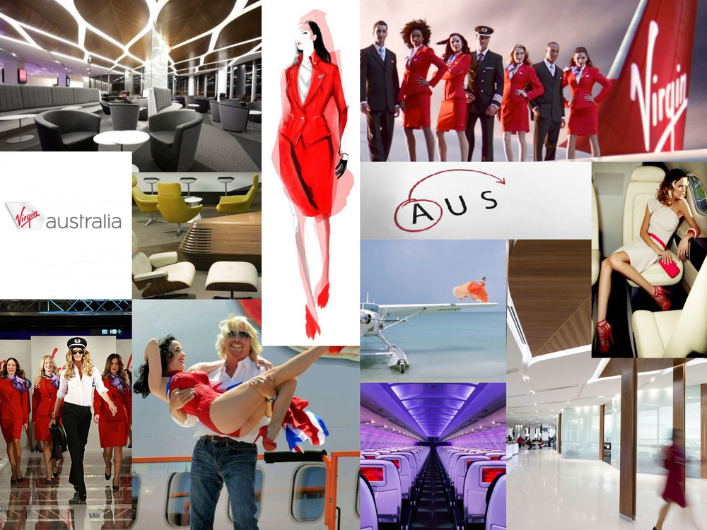 Virgin Australia  mood board.