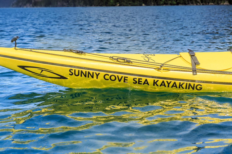 SunnyCoveSeaKayaking LenaStevens 227JPG Kayaking Camping Guests Kayak Pack