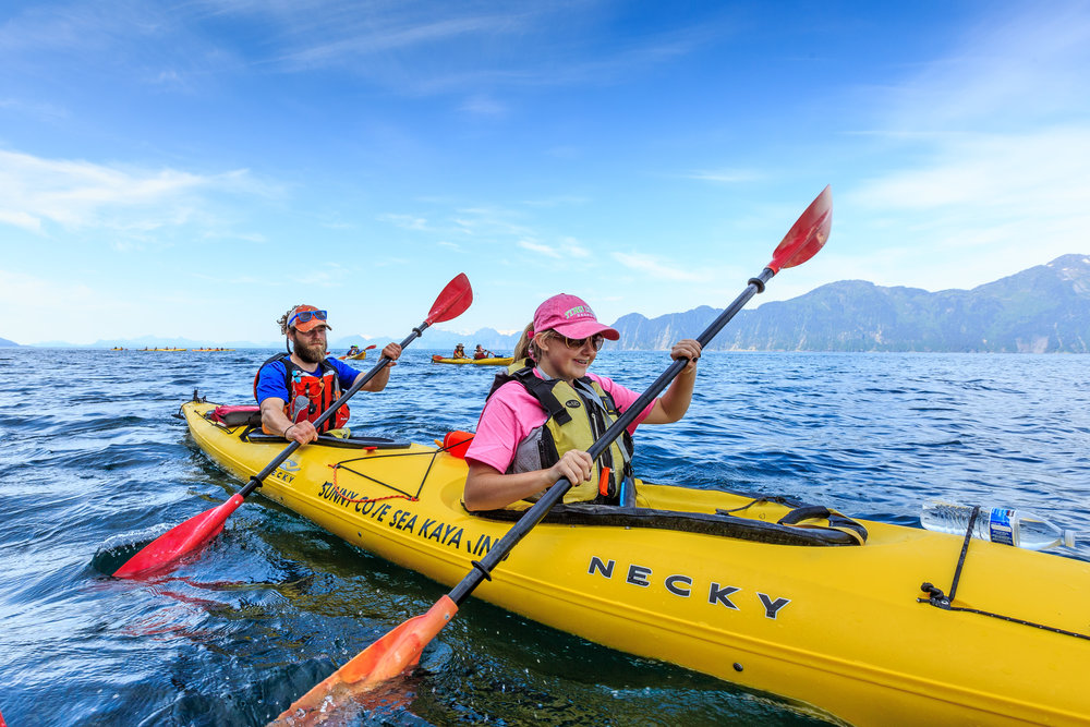 Fox Island Afternoon Kayaking - 12:00pm-6:30pm daily.Ages 8 and up.$180 per person.Salmon & prime rib buffet dinner included.