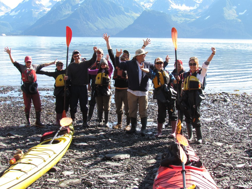 Sea kayaking in Alaska is fun for all ages, abilities and nationalities!