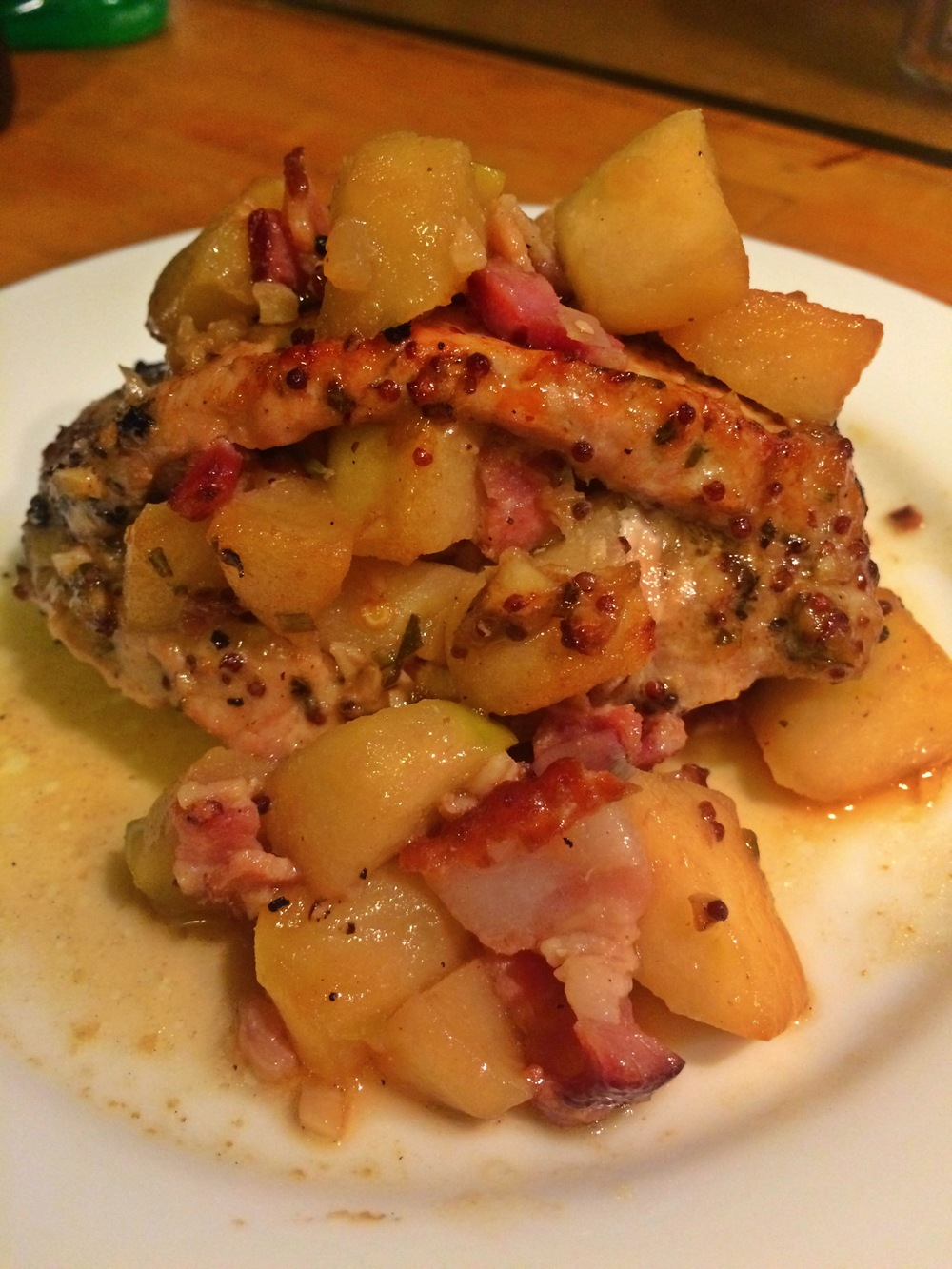 Apple and Bacon stuffed pork chops
