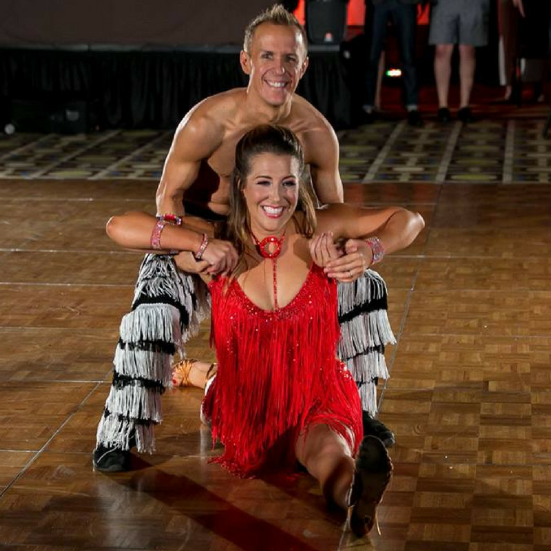 Shawn Nerdahl and his Student Katy June performing their winning Dancing with the Bars routine