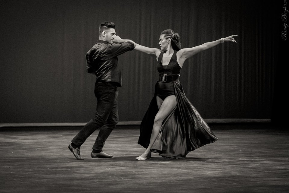 Cory and Selina dancing the Paso Doble
