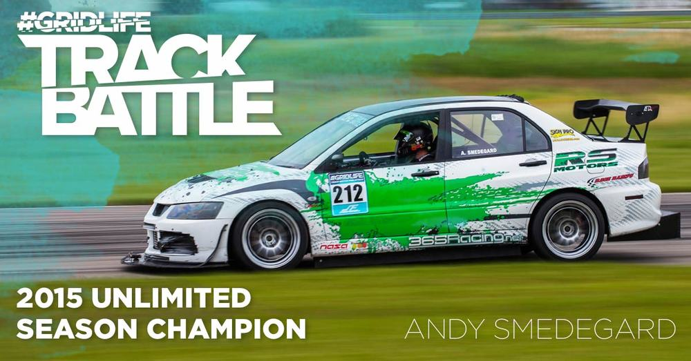 TrackBattle Time Attack Unlimited Champion. Andy Smedegard.