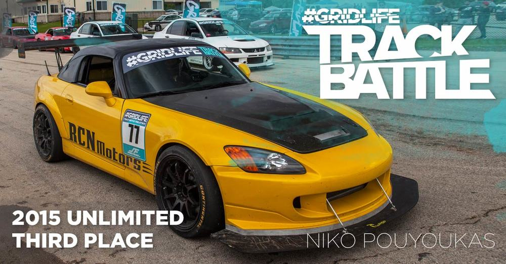 TrackBattle Time Attack 3rd Place Winner. Niko Pouyoukas.