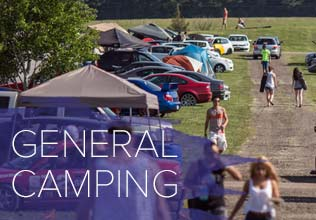 The general camping area make up the bulk of the #GRIDLIFE campgrounds. These areas are first come, first served and each camper will get a 10'x30' spot for their vehicle and a modest sized tent. General Camping Passes are $30 per person.