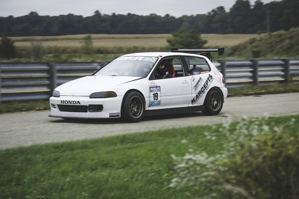 Karcepts / Eleven Tenths Motorsports 's Civic whom currently owns the fastest NA Civic around south haven will be a force to reckon with.  So simple but so fast, i guess that's why they say K series all things.