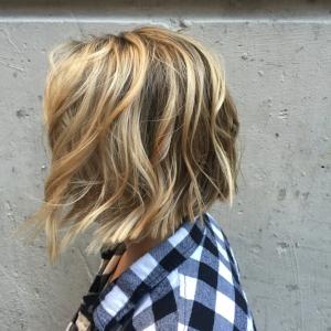 Balayage & Textured Bob Haircut