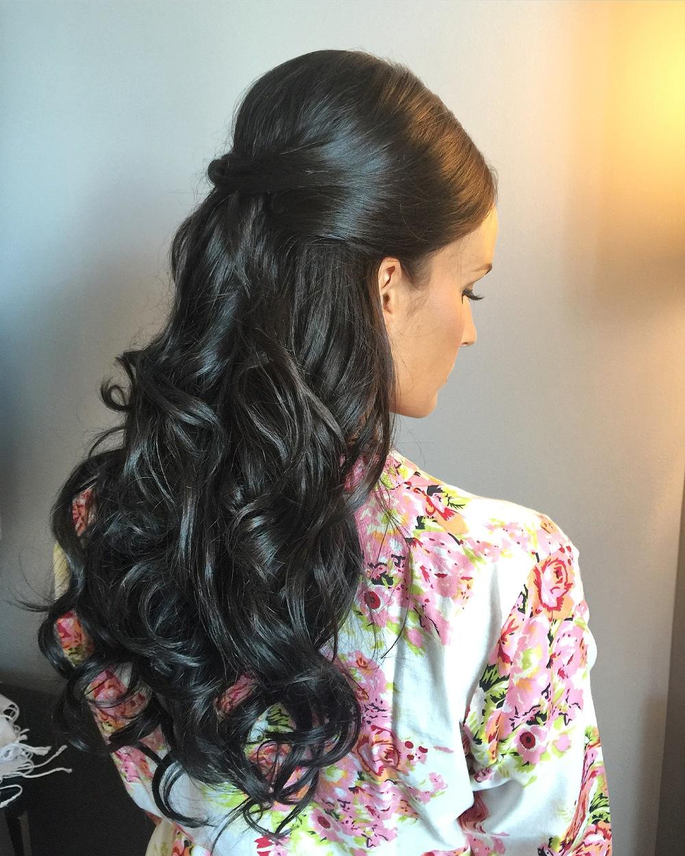 Brunette Bridal Styling