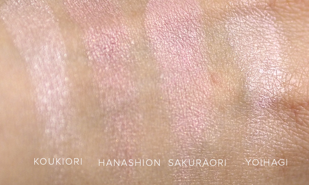 Suqqu   EX-29 Koukiori swatch comparison