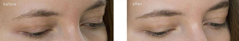 SUQQU eyebrow liquid pen R 02 Brown before-after