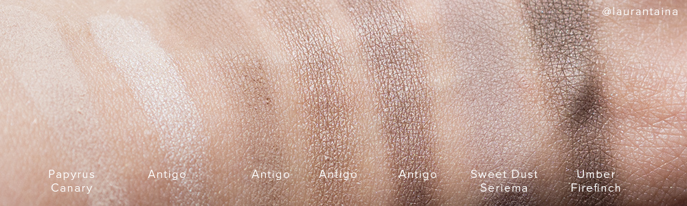 Rouge Bunny Rouge Antigo swatches in direct sunlight