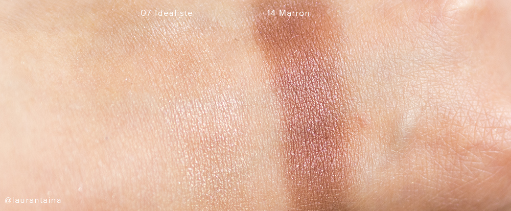 Surratt Artistique Eyeshadow Swatches Idealiste & Marron