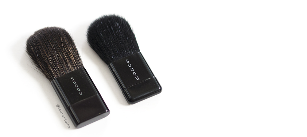 SUQQU blush brushes comparison: old - new