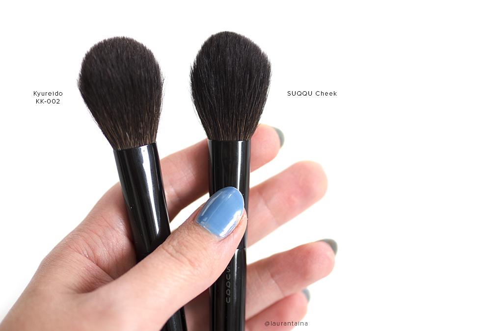 Kyureido KK-002 brush and SUQQU cheek brush