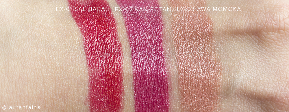 SUQQU Creamy Glow Lipstick Moist Swatches