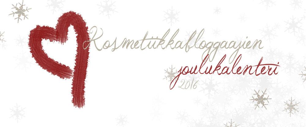 Kosmetiikkabloggaajien joulukalenteri 2016