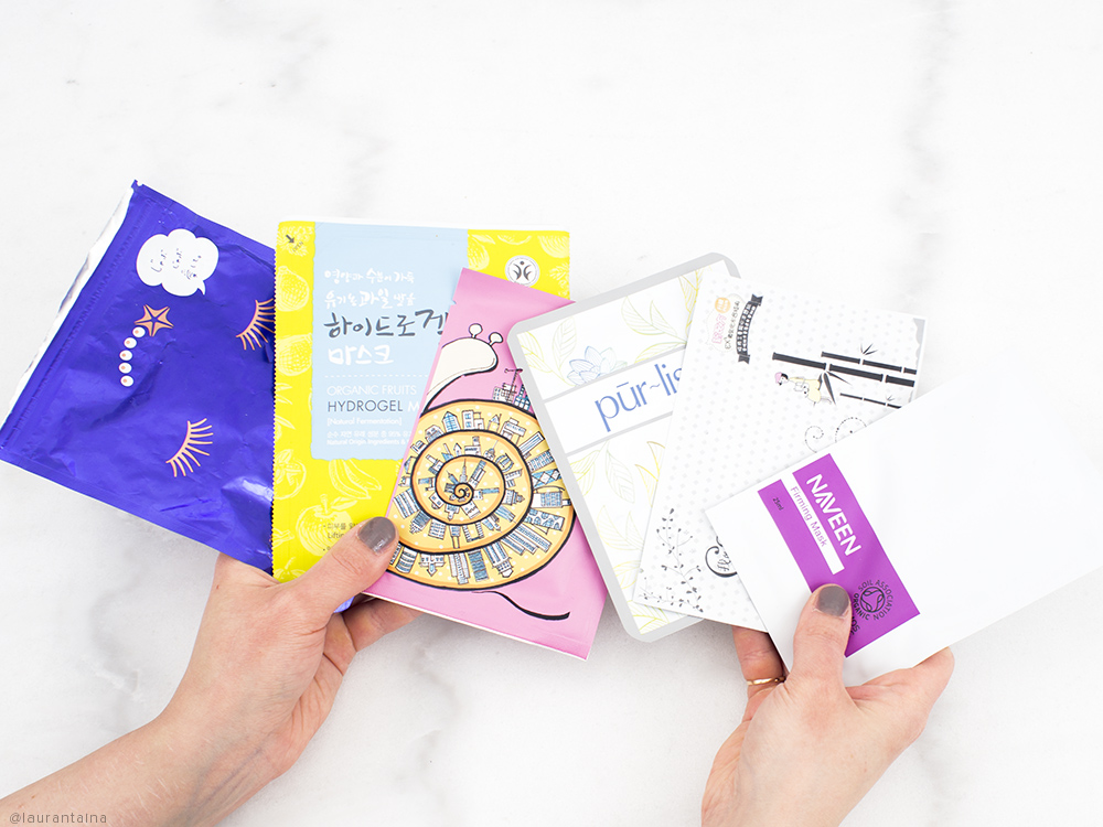 LuLuLun, Whamisa, Naruko, Pur~lisse, My Scheming and Naveen sheet masks