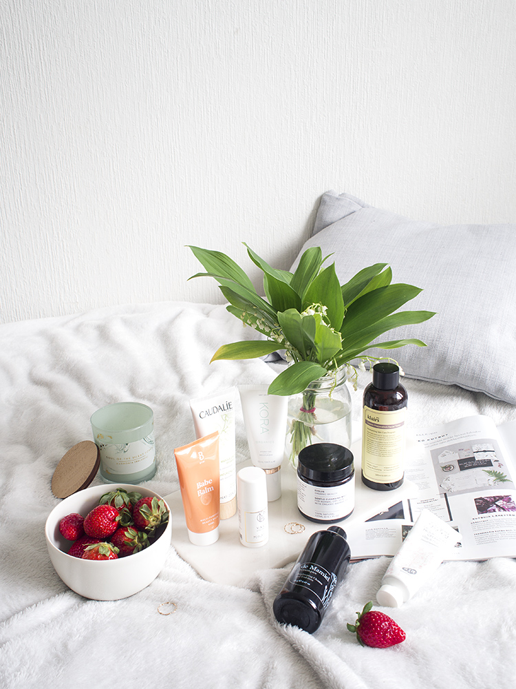 Self-care beauty routine