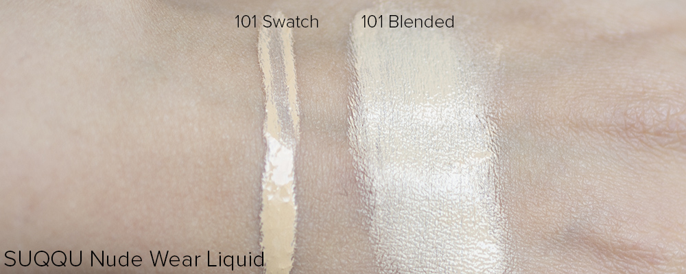SUQQU Nude Wear Liquid Swatches | Laura Loukola beauty Blog