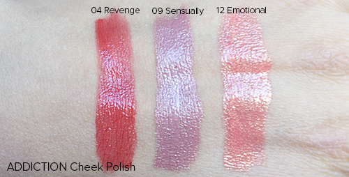 ADDICTION by Ayako Cheek Polish Swatches | Laura Loukola Beauty Blog