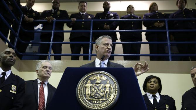 NYC MAYOR BILL DEBLASIO AT RIKERS ISLAND