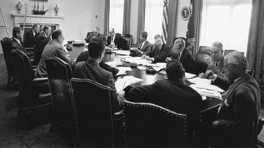JFK With Excomm Committee by PBS