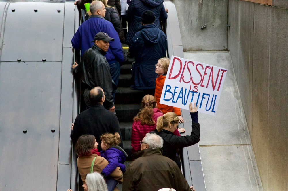 The beauty of dissent is rising. Photo by author.