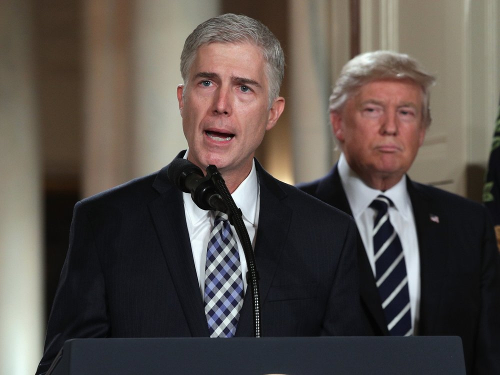 Judge Neil Gorsuch with President Donald J. Trump
