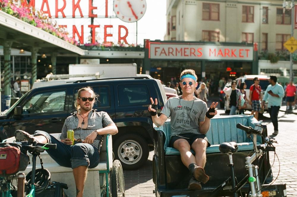 Pike Place Bike Taxis. Peace, dude.