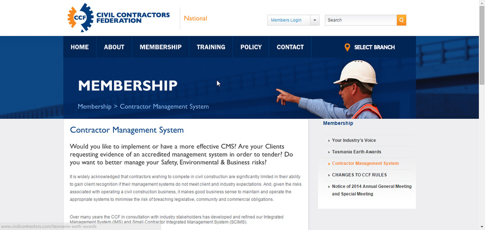 CCF Contractor Management Website