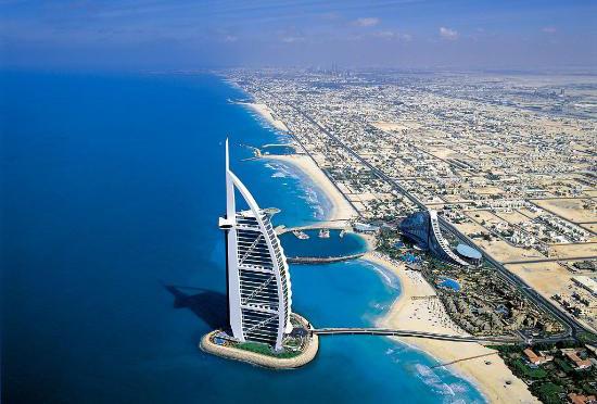 Dubai's coastline
