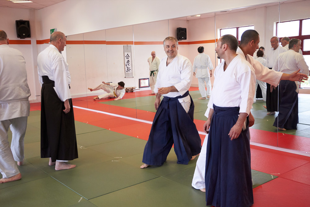 John Burn Sensei teaching at Senshin Dojo