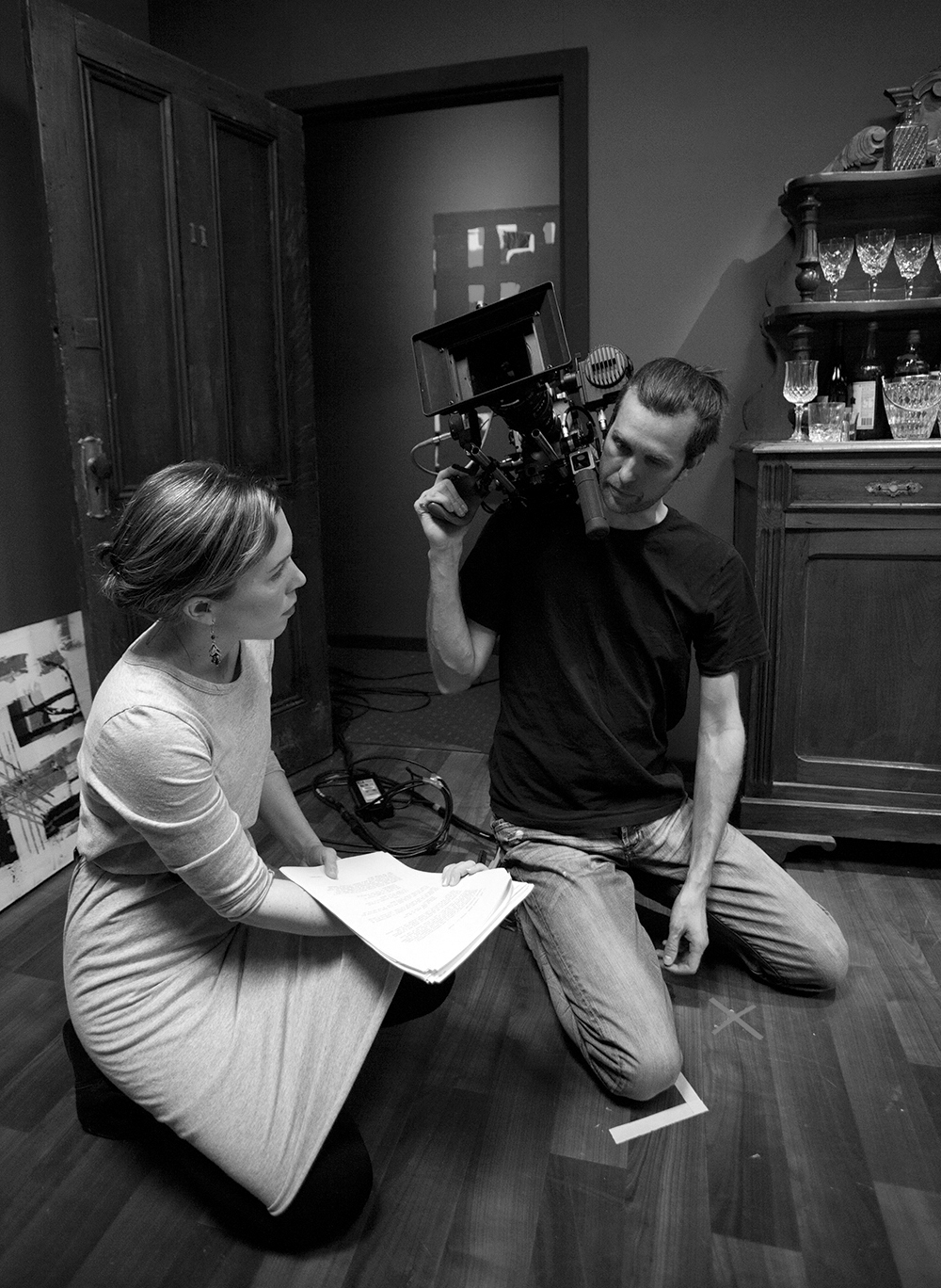 Director Siobhán Costigan and Cinematographer Kent Marcus   on the set of   Intersection  .  Photo by Maneesha Walsh. © AFTRS