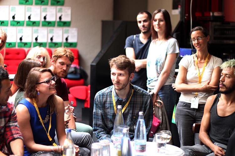 Freak  composers Freya Berkhout and Danny Keig answering questions at Down Under Berlin.© 4th Down Under Berlin – Australian Film Festival, Anja Lindemann, Kristina Niemann, Lena Pflüger 2014.