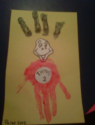 Thing 1 and Thing 2 Handprints