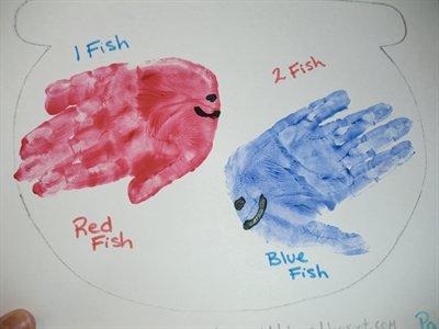Red Fish Blue Fish Handprints