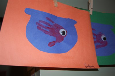 One Fish, Two Fish, Red Fish, Blue Fish - Handprint and goodies