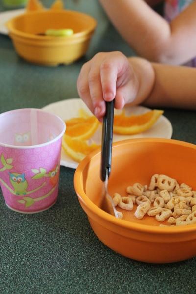 Alpha Bits Cereal, Orange Slices, 1% Milk
