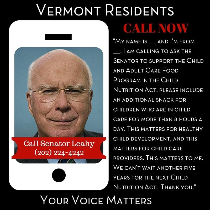 Senator Leahy - Vermont Residents