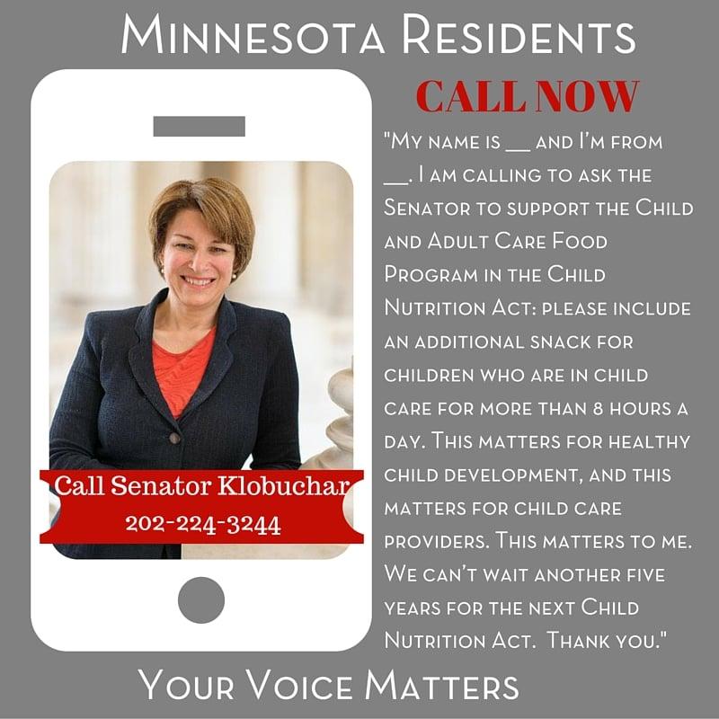 Senator Klobuchar - Minnesota Residents