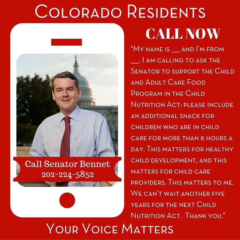 Senator Bennet - Colorado Residents