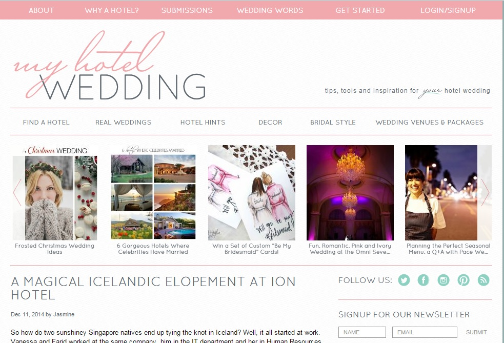 Iceland Elopement Featured on My Hotel Wedding