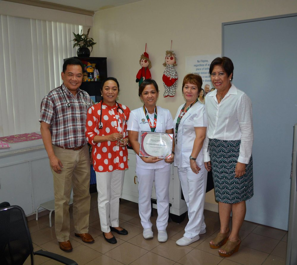 Hospital TB - DOTS Excellence Award - OGH received the