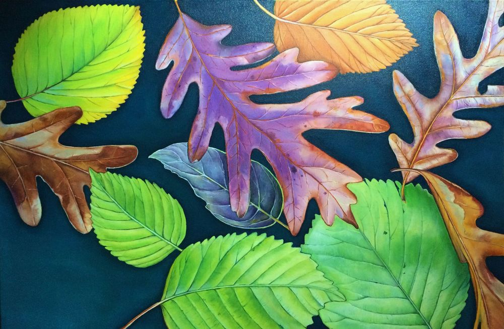 Leaves of Thanksgiving , 2015 Oil on canvas, 24 x 36 inches